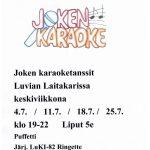 Karaoketanssit Laitakarin lavalla heinäkuussa keskiviikkoisin